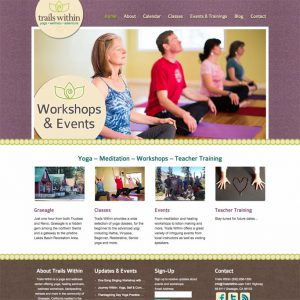 trails within yoga studio website