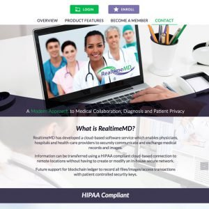 RealtimeMD HIPAA cloud website