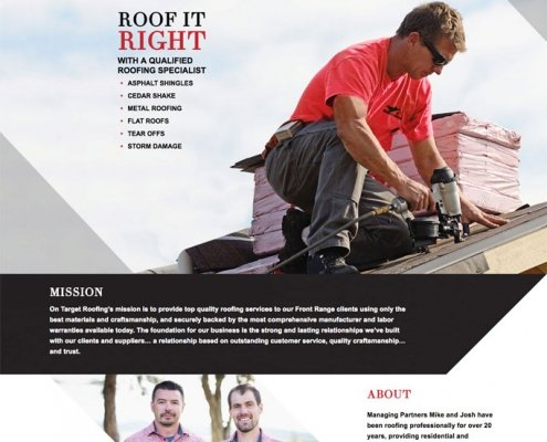 roofing contractor website